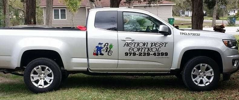 Action Pest Control's Truck